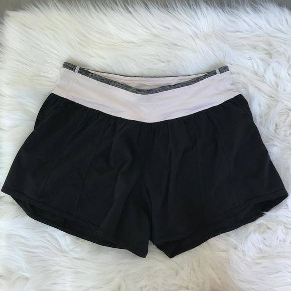 lululemon athletica Pants - Rare Lululemon Baby Pink and Black Running Shorts